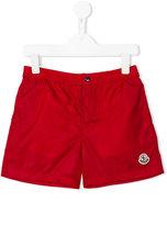 Moncler embroidered logo swim shorts