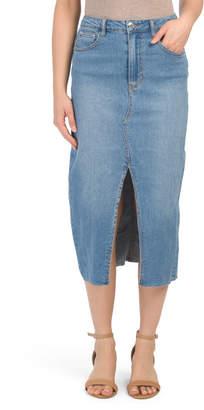 Juniors Denim Midi Skirt