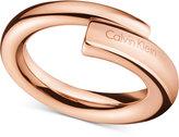 Calvin Klein Women's scent PVD Stainless Steel Ring KJ5GPR1001