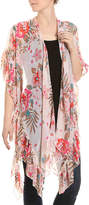 David & Young Ruffle Floral Kimono - Women's