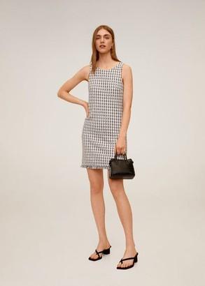 MANGO Knit cotton-blend dress