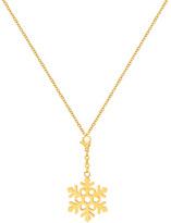Gold Snowflake Pendant Necklace