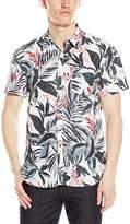Lucky Brand Men's Short-Sleeve Linen Floral Shirt