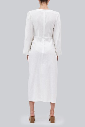 The Fifth ARCH MIDI DRESS Ivory