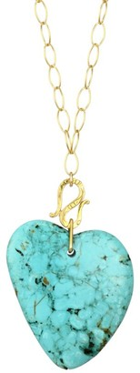 Chan Luu 18K Yellow Goldplated Sterling Silver & Turquoise Heart Pendant Necklace
