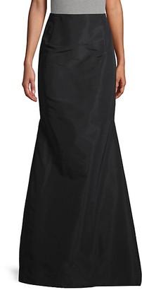 Carolina Herrera No-Waistband Silk Maxi Skirt
