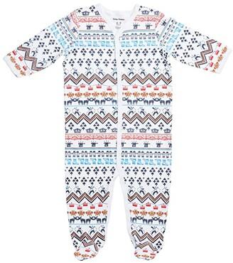 Roller Rabbit Chalets Footie Pajamas (Infant) (White) Kid's Jumpsuit & Rompers One Piece