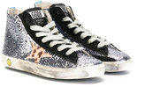 Golden Goose Deluxe Brand Kids - glitter sneakers - kids - Cotton/Leather/PVC/rubber - 30