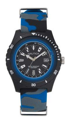 Nautica Unisex Adult Quartz Watch with Silicone Strap NAPSRF009