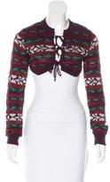 Vivienne Westwood Wool-Blend Patterned Bolero