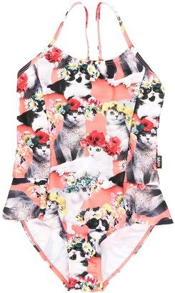 Molo Flower Power Cat-Print Swimsuit