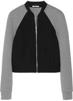 Alexander Wang Two-tone neoprene and jersey bomber jacket