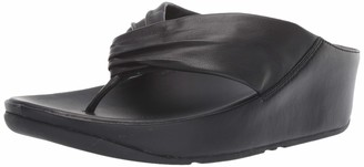 FitFlop Women's Twiss Flip-Flop Black US10 M US