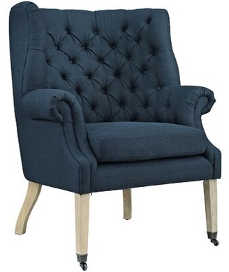 Modway Chart Wingback Chair Fabric: Polyester Blend Azure