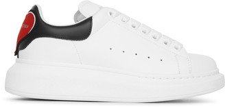 Alexander McQueen White and black classic heart sneakers