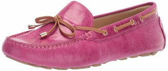 Driver Club Usa Women's Leather Nantucket Tie-Bow Loafer