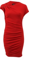 Lanvin Ruched Dress With Pin