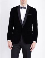 HUGO BOSS Regular-fit cotton velvet jacket