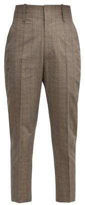 Etoile Isabel Marant Noah Cropped Cotton-blend Trousers - Light Grey