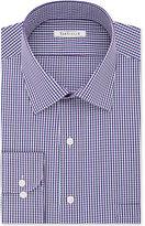 Van Heusen Men's Classic-Fit Wrinkle-Free Purple Checked Dress Shirt