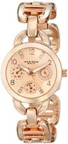 Akribos XXIV Women's AK703RG Impeccable Crystal Multifunction Rose-tone Chain link Bracelet Watch