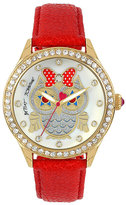 Betsey Johnson Starry Eyes Owl Watch