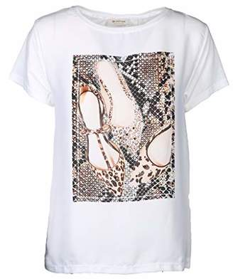Rich & Royal rich&royal Women's T-Shirt Mit Shuhdruck,Large