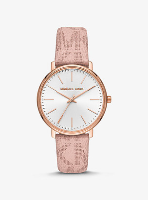 Michael Kors Pyper Logo and Rose Gold-Tone Watch