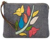 Patricia Nash Floral Embroidery Cassini Wristlet