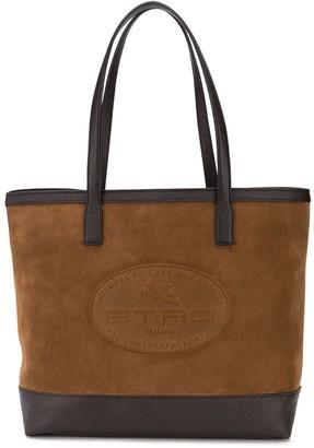 Etro Logo-Embossed Tote Bag