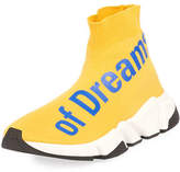Balenciaga The Power of Dreams Stretch-Knit High-Top Trainer