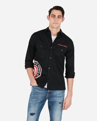Express Atlanta Hawks Nba Twill Shirt Jacket