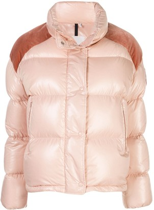 Moncler Contrast Panel Puffer Jacket