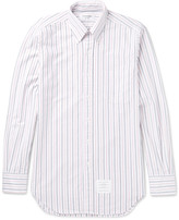 Thom Browne - Slim-fit Button-down Collar Striped Cotton Oxford Shirt