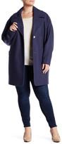 Andrew Marc Wendy Wool Blend Melton Coat (Plus Size)