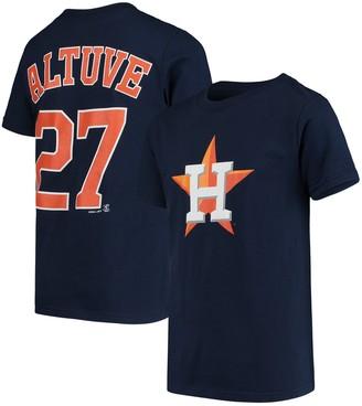 Majestic Youth Jose Altuve Navy Houston Astros Player Cap Logo Name & Number T-Shirt