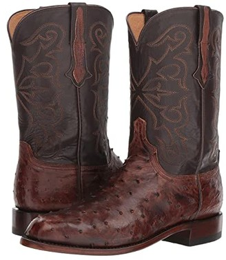Lucchese Hudson (Antique Chocolate) Cowboy Boots