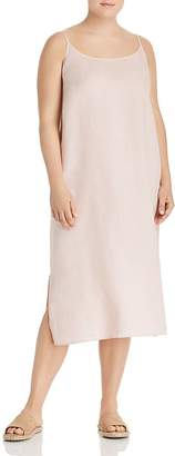 Eileen Fisher Plus Organic Linen Slip Dress