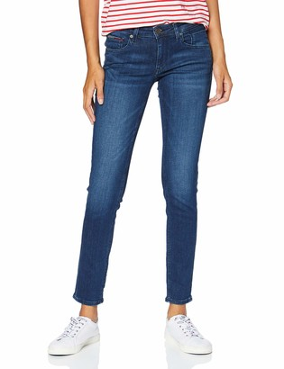 Tommy Jeans Women's Scarlett Low Rise Skinny Crpsd Straight Jeans