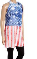 Red & White Stars & Stripes Halter Tunic - Plus