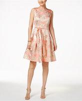 Tommy Hilfiger Metallic-Print Fit & Flare Dress