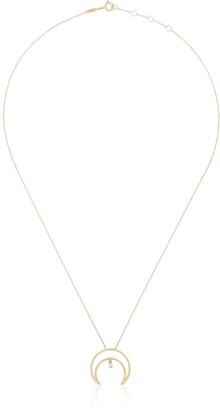 PERSÉE 18kt Yellow Gold Crescent Moon Diamond Necklace
