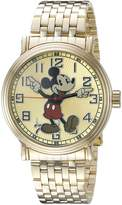 Disney Mickey Mouse Men's W002413 Mickey Mouse Analog Display Analog Quartz Gold Watch