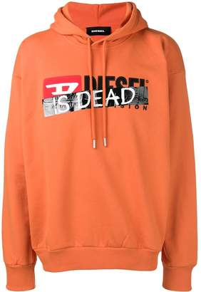 Diesel logo slogan hoodie