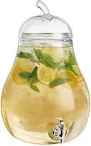 Home Essentials Pear-Shaped 2.4-Gallon Glass Beverage Dispenser