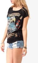 Forever 21 Distressed American Made Top