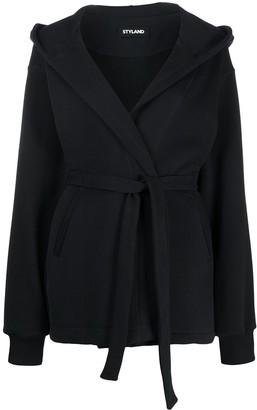 Styland Belted Hoodie Jacket