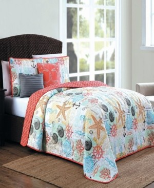 Geneva Home Fashion Belize 5 Pc Queen King Quilt Set