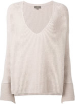 N.Peal wide sleeve deep v sweater - women - Cotton/Cashmere - S