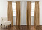 "Ethan Allen 100"" Amber and Gold Taffeta Stripe Inverted Pleat Panel"